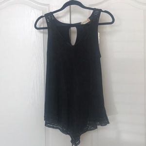 Altar'D State NWT Black stone washed Top S